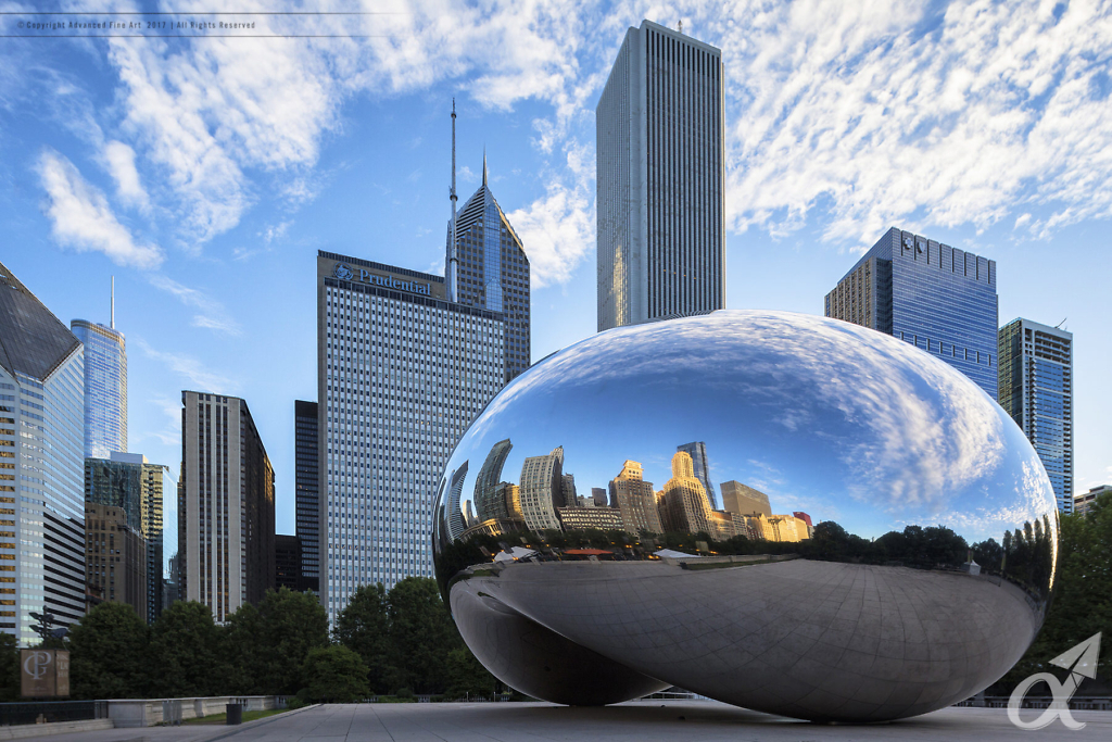 Cloud Gate - The Bean - Chicago Illinois - Architectural Photography