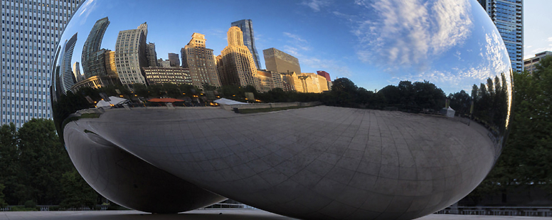 A City in the Cloud – The Bean – Chicago, Illinois