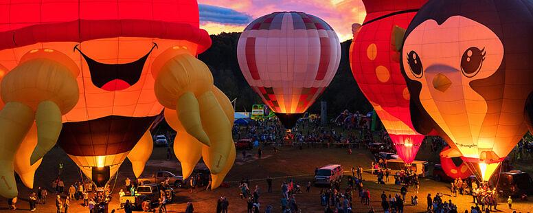 Hot Air Balloon Glow – Carolina Balloon Festival – 2018